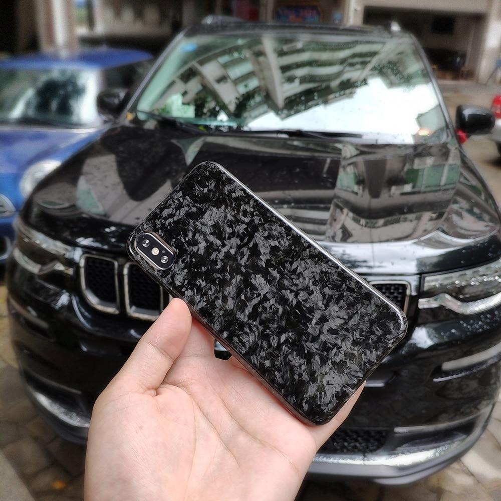 Étui pour iPhone X XS XR en Fiber de carbone Composite forgé complet modèle brillant de luxe pour Apple iPhone XS Max étui Mobile
