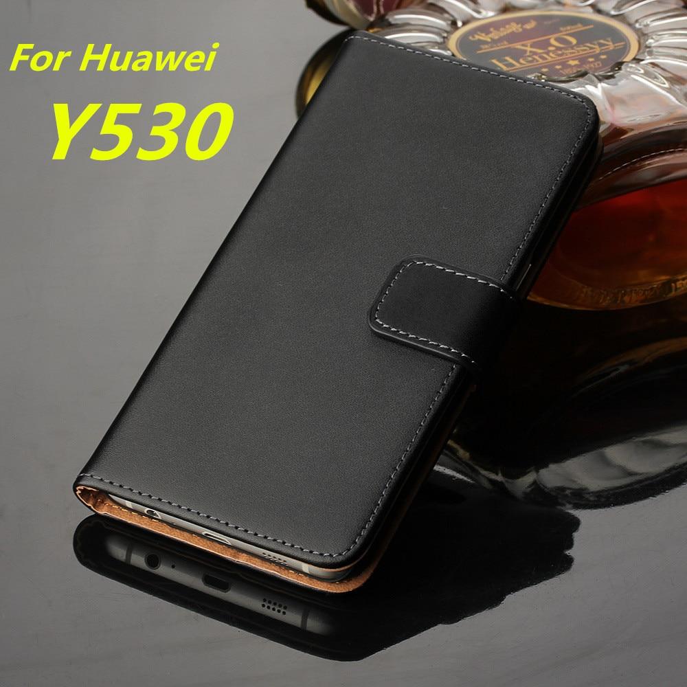100% Kwaliteit Premium Lederen Flip Cover Huawei Y530 Luxe Wallet Case Voor Huawei Ascend Y530 Kaarthouder Holster Telefoon Shell Gg