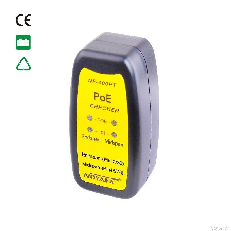 Max90 % Humidité de Fonctionnement La 802.3af/802.at PoE Testeur connecté à une prise RJ45 à déterminer l'existence de PoE NF-400PT