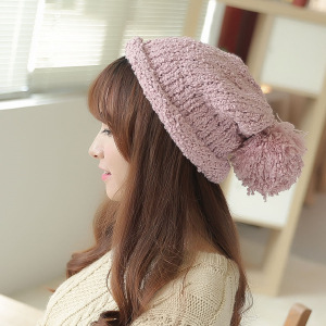 Korean Womens Winter Cap Solid Casual Hat Woman Be...