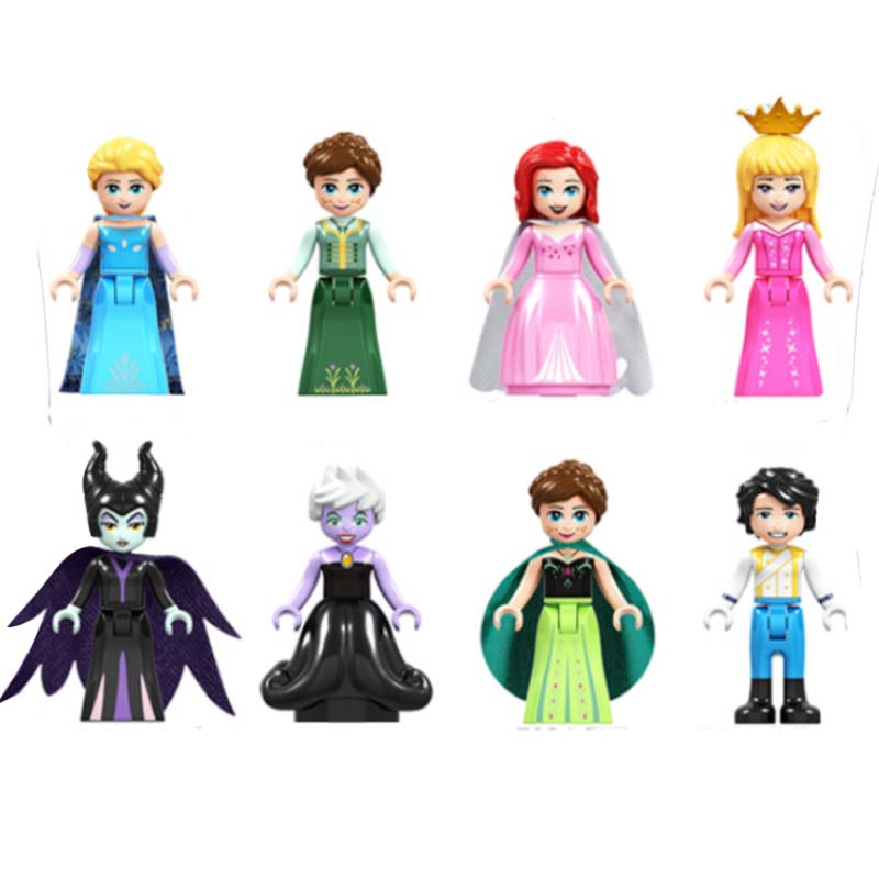 8pcs Fairy Tale Princess Anna Elsa Girl Building Bricks Blocks Figures Children Toys Compatible With Sermoido Friends For Girls in Blocks from Toys Hobbies