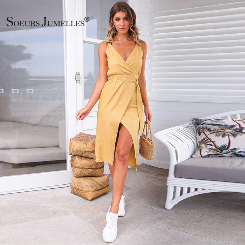 2019 деловой пикантный женский платье Сексуальное нижнее белье с глубоким v-образным вырезом длинное платье Для женщин Летнее Повседневное платье 2019 уличная белая Maxi Dress Vestidos YF01982