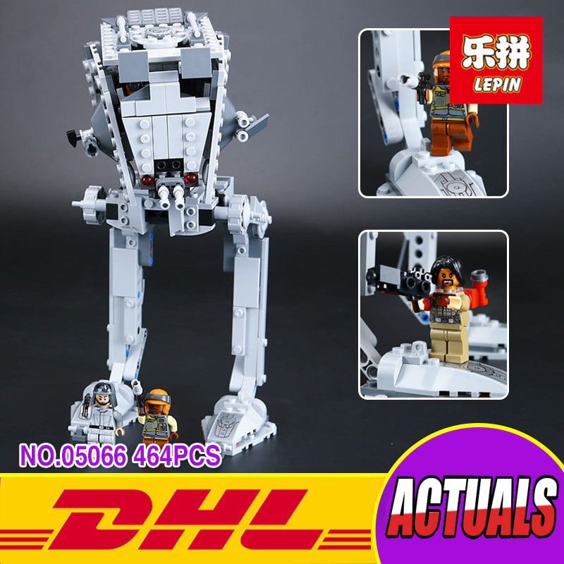 Lepin 05066 Genuine Star War Series The Rogue One Imperial AT-ST Walker Set Building Blocks Bricks Educational Toys 75153 мопед