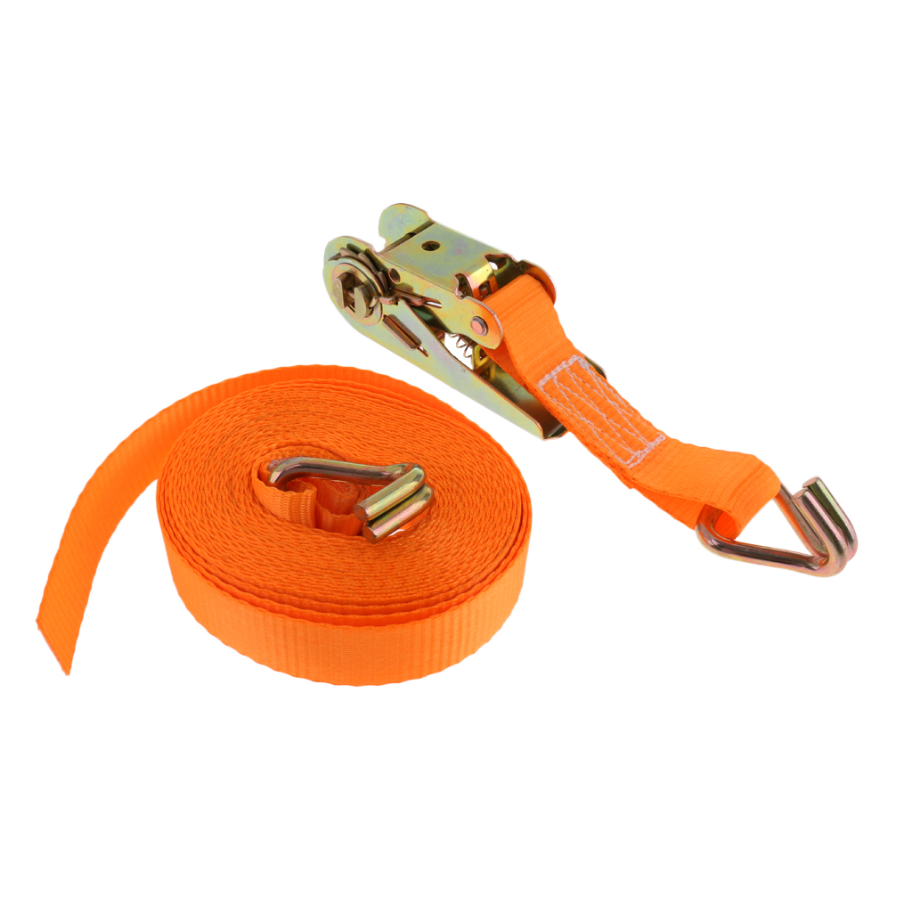 Heavy Duty 800kg 6 Meters 25mm Ratchet Tie Down Strap Webbing with Double J Hooks for Camping Hiking Equiptment Accessories tie down straps 5m x 25mm ratchet strap retractable adjustable belt ropes cord
