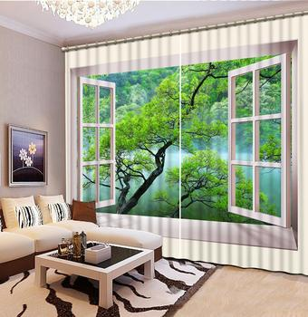 landscape Curtains Decoration European 3D Curtain For Living room Blackout curtain scenery curtains window