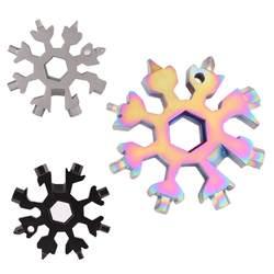 18 в 1 Мульти-инструмент из нержавеющей стали Снежная форма плоская Крестовая головка отвертка шестигранный ключ брелок инструмент для
