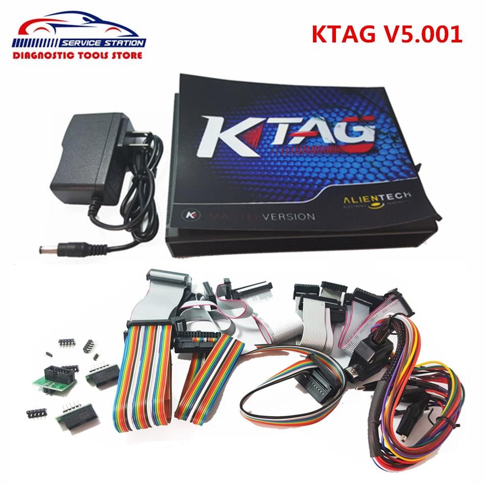 Prix pour 2017 Nouveau Livraison Gratuite Illimité K-TAG ECU Chip Tunning KTAG V2.10 Firmware K TAG V5.001 ECU Outil de Programmation