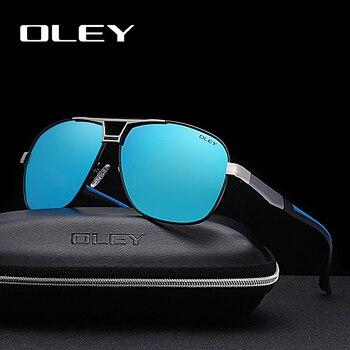 7dd72f1ab OLEY marca aluminio hombres piloto gafas de sol polarizadas HD película de Color  al aire libre UV400 las gafas para los hombres Oculos de sol Y9746