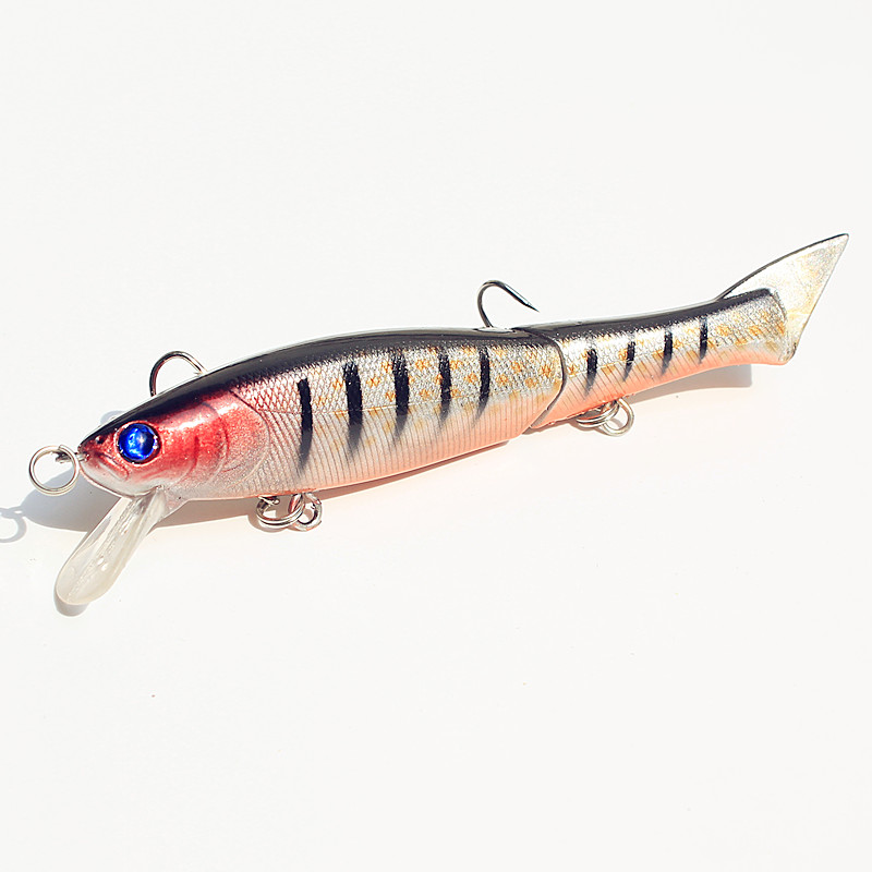 KKWEZVA 1pc 12cm 13 5g Segment Fishing Lure Swimbait Crankbait Hard Bait Fishing Artificial Lures Baits With 2 Treble Hooks in Fishing Lures from Sports Entertainment