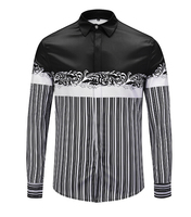 2018 Spring Autumn Features Men Shirt Long Sleeve Casual Slim Fit Male F574