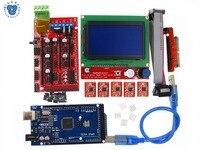1pcs Mega 2560 R3 1pcs RAMPS 1 4 Controller 5pcs A4988 Stepper Driver Module 1pcs 12864