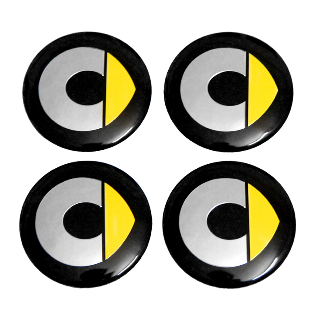 Wheel Sticker Emblem Badge Durable For <font><b>Smart</b></font> Logo Roadster <font><b>Fortwo</b></font> <font><b>450</b></font> Forfour Brabus Forspeed Auto Styling image