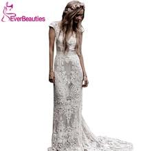 Robe De Mariage חתונה שמלות Boho 2020 תחרה שיק בוהמי חתונת שמלת כלה שמלות Vestidos דה Novia