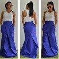 New Arrival Autumn Style Women Skirt Custom Made A Line Floor Length Maxi Skirt Fold Long Skirt With Pockets