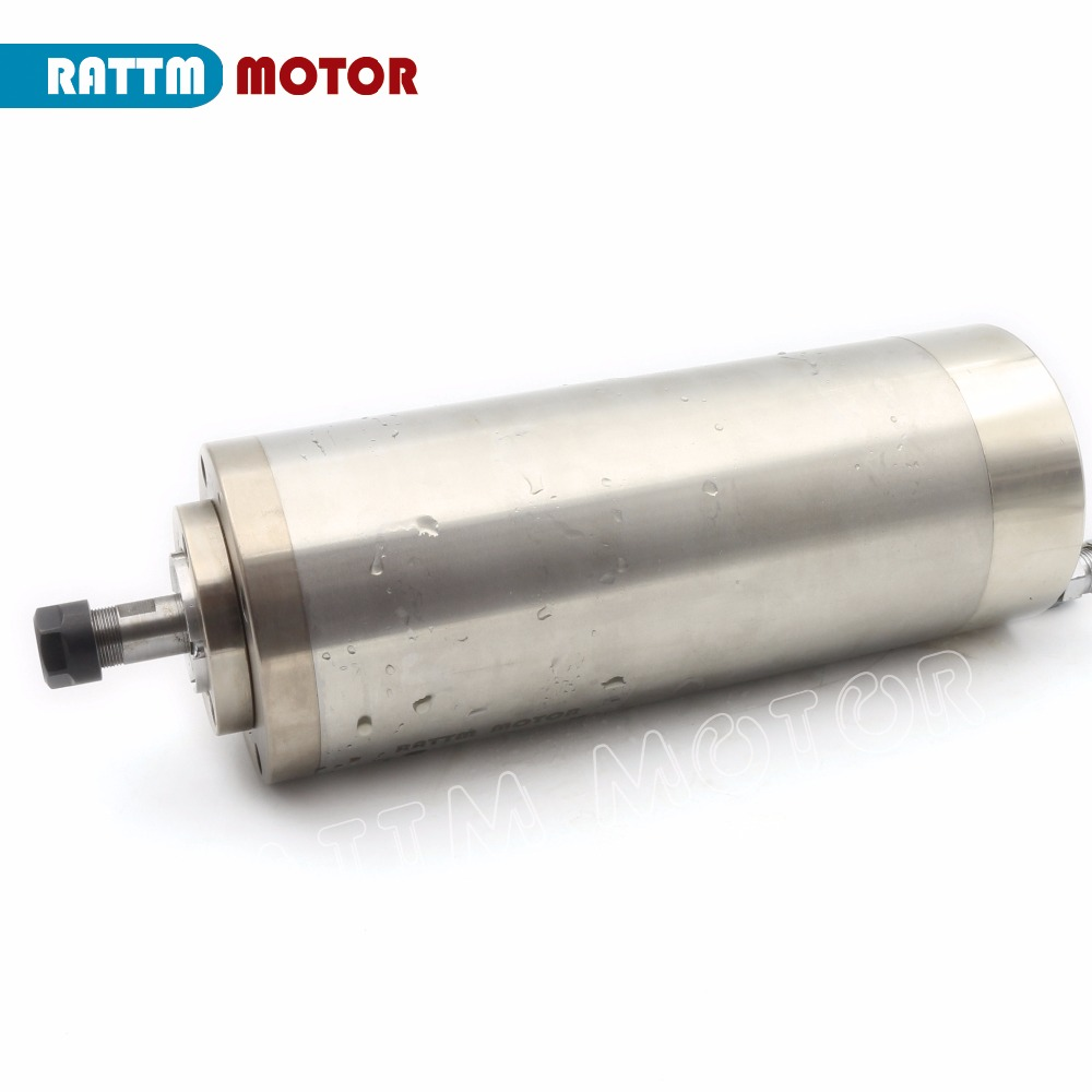 1500w 2HP Water Cooled CNC Milling Spindle,110V,4Bearing,ER11--USA Stock