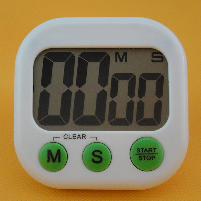 Home Electronic Timer Home Mini LED Alarm Clock Timing  Big Screen Kitchen Timer Stopwatch Calendar Display LCD Snooze Clock