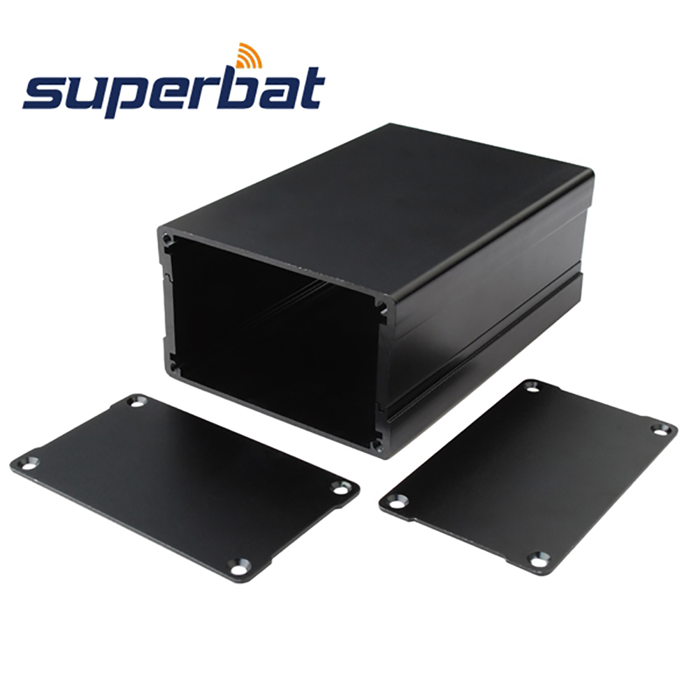 1.81″*2.99″*4.33″ Al Black Project Junction Box Extruded Aluminum Enclosure Case Electronic Instrument PCB 46*76*110mm (H*W*L)