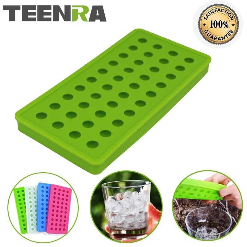 TEENRA 1Pcs 40 Cavity Silicone <font><b>Ice</b></font> Cube Mini <font><b>Ice</b></font> Ball Maker Silicone <font><b>Ice</b></font> Cube Trays Mould Sphere <font><b>Ice</b></font> Mold Maker Form