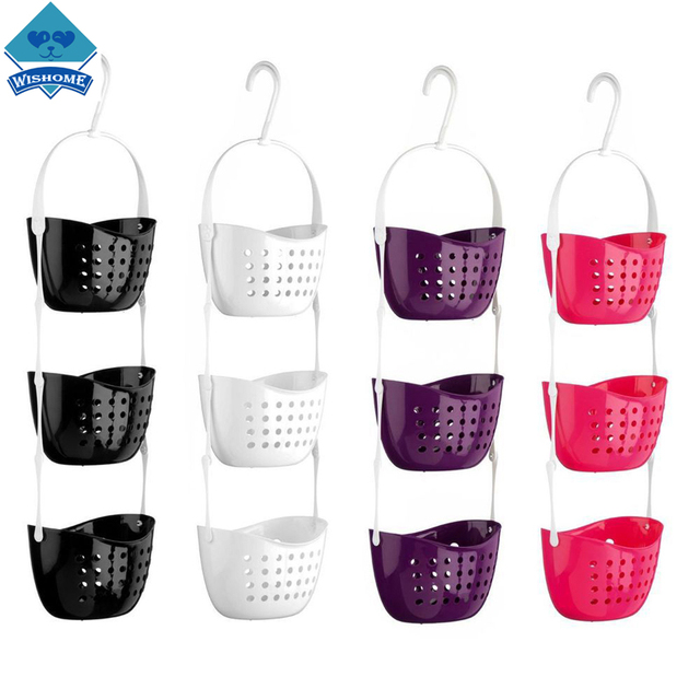 Wishome Lowest Price 3 Tier Bathroom Shower Caddy Bath Rack Plastic ...