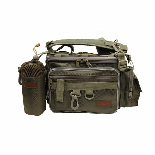 Cheap Trulinoya Fishing Bag Multifunctional Lure Fishing Tackle Waterproof Canvas  Fishing Waist Bag for Outdoor Sports