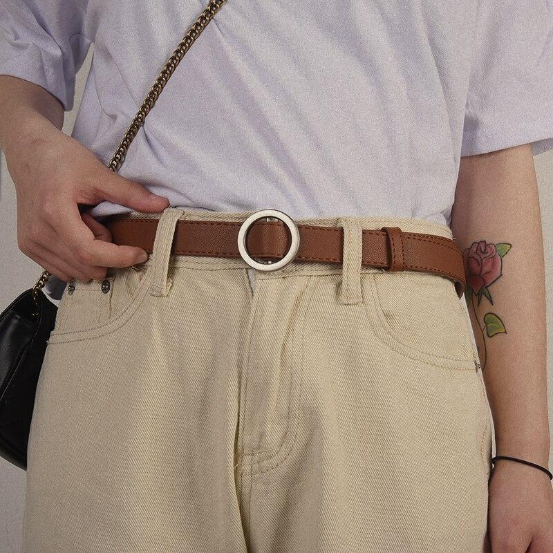 NO. ONEPAUL женский ремень с и пряжками, Золотая Пряжка, джинсы, дикие ремни для женщин, модные, студенческие, простые, новые