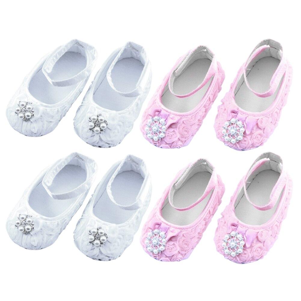 Shoes Prewalker Anti-Slip Newborn-Baby Autumn Baby-Girls Princess Summer Soft 1pair Floral-Pearls-Decoration
