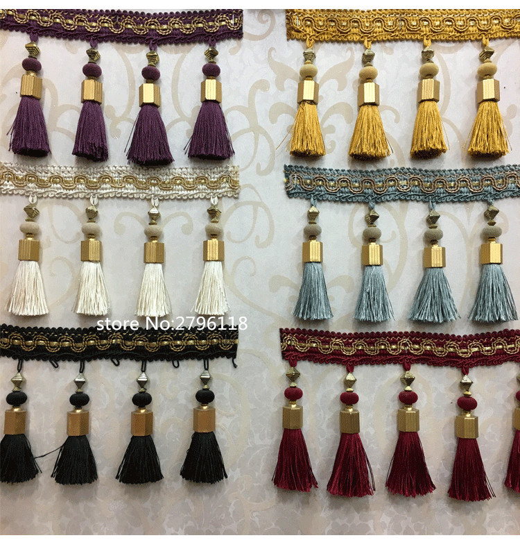 HOT 5 meters 12 CM Long tassel fringe for curtains Ribbon Lace Accessory Sew Latin Dress