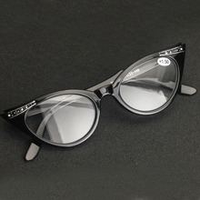 Ladies 63mm Lens Designer Cat Eye Reading Glasses Women Customized Strengths Full Frame Eyeglasses