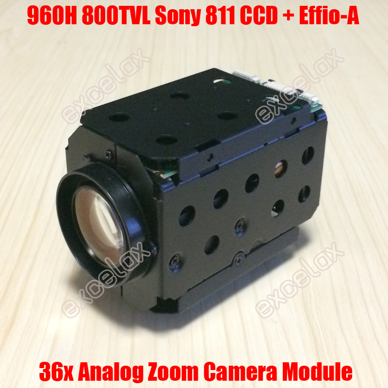 960H D1 800TVL Analog 18x Optical 36x 1 3 Sony 811 810 CCD Effio A 4151