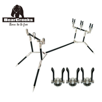 BearCreeks Fishing Stainless Steel 3 rod Adjustable Retractable Carp Fishing Rod Pod Rod Holder fishing acessorios