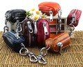 Free Shipping 2016 New Arrival Genuine Leather Coin Purse Keychain Wallet Key Chain Car Key Ring Women Bag Accessories