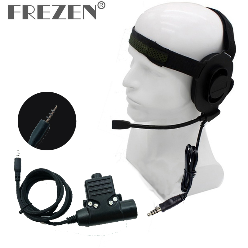 HD01 Z Tactical Bowman Elite II Headset With U94 PTT Adapter Z113 Standard Version 3.5mm Jack For IPhone Xiaomi Mobile Phone