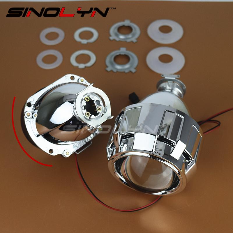 Prix pour Sinolyn Automobiles Mise À Niveau Mini 2.5 ''7.1 Version HID Bi xénon Objectif Du Projecteur H1 Phare Rénovation H4 H7, Super Lumineux Clair