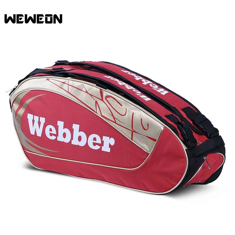 8-12Pcs Large Badminton Racket Bag Athlete's Tennis Bag Professional Badminton Shoulder Backpack With Large Storage Pocket