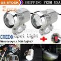 2pcs Super Bright 30W U2 LED Motorcycle Spotlight Headlight Driving Fog Head Light Spot Night Safety Lamp + Switch