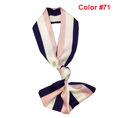 New Design Pink Color Elegance Ladies Ribbons Tied Bags Small Narrow Long Head Scarf Skinny Scarves