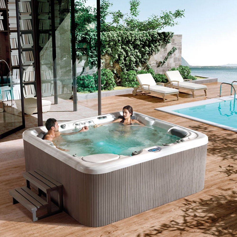 Hot sale 6 People Spa Tubs made in China deluxe outdoor whirlpool in ...