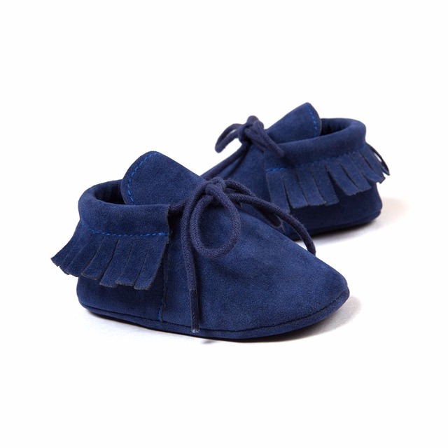 Baby Shoes 2019 Stylish PU Leather Baby Boy Girl Moccasins Soft Crib Shoes Fringe Soft Soled Non-slip Footwear First Walkers 5