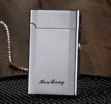 บุหรี่อิเล็กทรอนิกส์เบาWindproofโลหะบางเฉียบชีพจรUSBชาร์จFlamelessไฟฟ้าArcซิการ์บุหรี่ไฟแช็ก