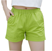 New 2018 summer candy color women shorts casual style ladies shorts hot sale plus size cotton