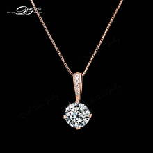 ФОТО 2014 new cz diamond chain necklaces & pendants 18k gold/platinum plated fashion crystal brand party jewelry for women dfn426-m