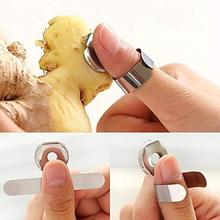 1pc Garlic Peeler Stainless Steel Multifunctional Chestnut Ginger Creative Kitchen Gadget Hand Holder Tools