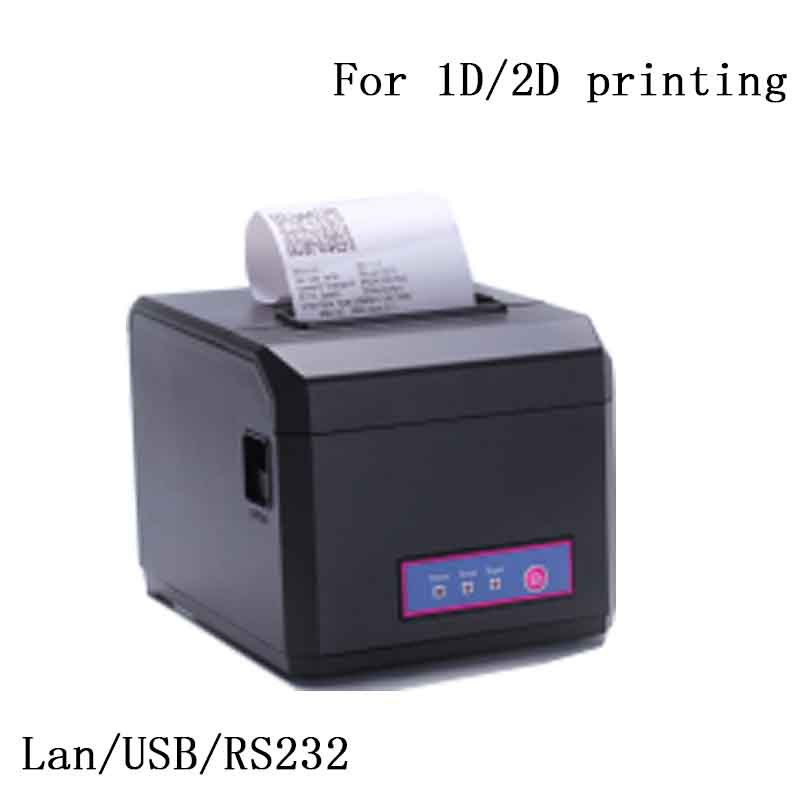 USB 80mm thermal printer with cutter Sales terminal and cash register with a PC printer thermal cash register paper printing paper white 80mm