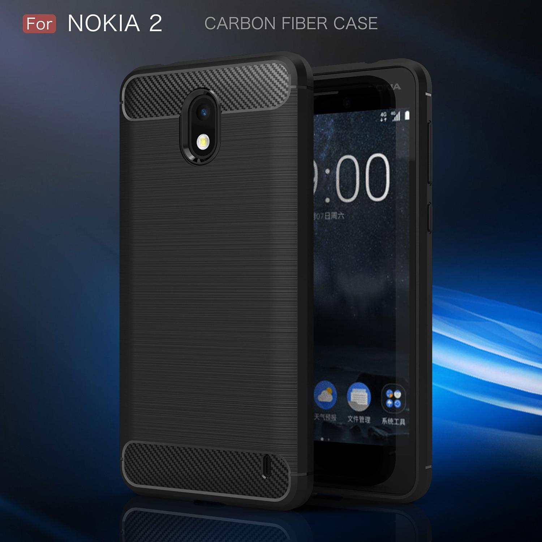 TPU Case for Nokia 2 TA-1007 TA-1029 TA-1035 Carbon Fiber Cover for Nokia2 TA 1007 1029 1035 Phone Cases nokia 8 new 2018