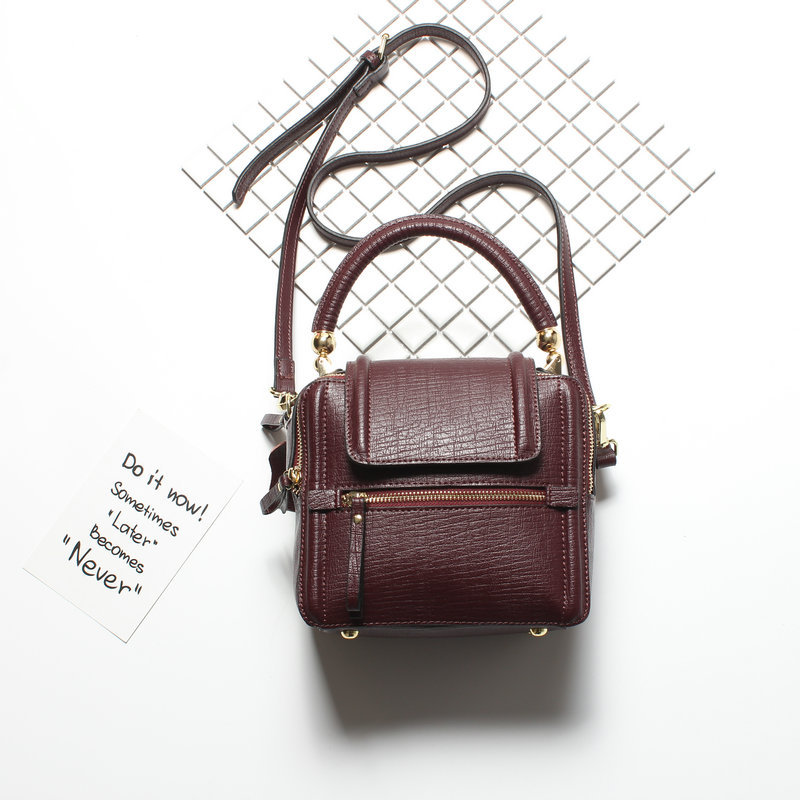 Fashion Mini Flap Bag Designer Handbag Split Leather Small Women Shoulder Bag Vintage Tote Messenger Bags New Arrival mesoul chain bag women genuine leather shoulder bags vintage party evening bag handbag crossbody small mini flap bag ladies tote