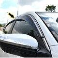 Fit para 2016 2017 honda civic x sedan sun viseiras da janela guarda chuva com acabamento cromado defletores tempo escudo weathershields