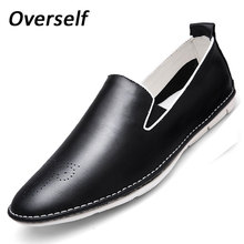 Spring Autumn Leisure  flats Soft Men Casual Shoes Comfy light-weight Breathable Loafers real leather-based informal driving footwear