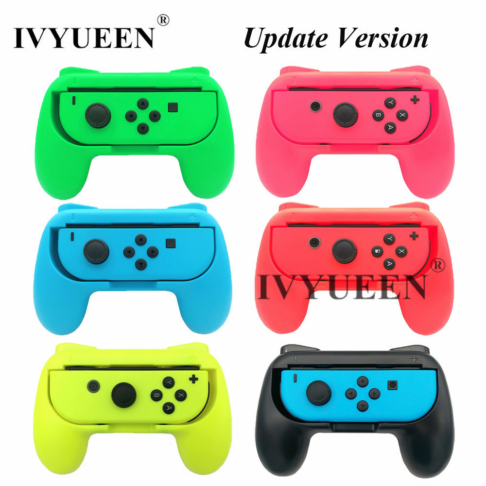 IVYUEEN 2 pcs Update Version Controller Handle Grips for Nintend Switch NS NX Joy-Con Console Joy Cons Holder - Blue / Green ivyueen green pink red housing replacement cover for nintend switch ns joy con shell joy cons controller case game accessories
