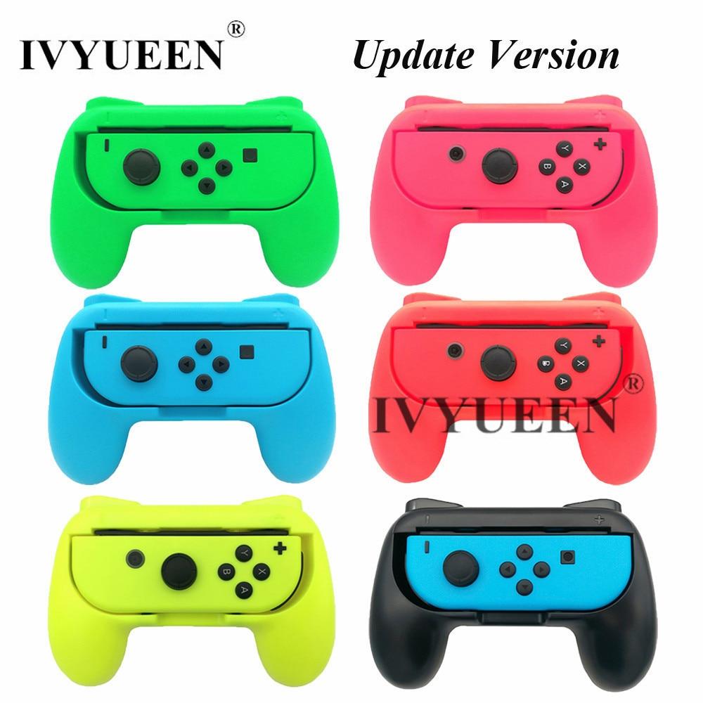 IVYUEEN 2 Pcs Update Version Controller Handle Grips For Nintend Switch NS NX Joy-Con Console Joy Cons Holder - Blue / Green