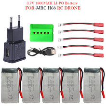 3.7V 1800mah Battery For JJRC H68 RC Drone Helicopter Spare Parts